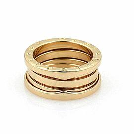 Bulgari B Zero1 18k Yellow Gold 9mm Wide Band Ring Size 5.5