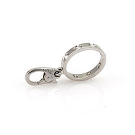 Cartier Love 7 Diamond 18k White Gold Mini Oval Ring Charm