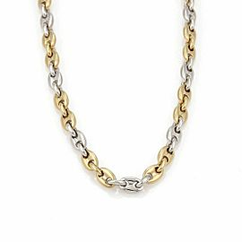 "Cartier 18k Two Tone Gold Mariner Link Long Chain Necklace 31.5"" w/Paper"