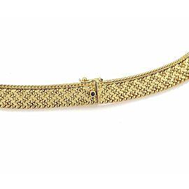 Vintage Caplain Paris French 18k Yellow Gold 10.5mm Wide Collar Necklace - RARE!