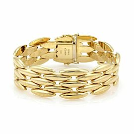 Cartier 5 Rows Gentiane Rice Link 18k Yellow Gold Bracelet