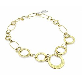 Ippolita Hammered Assorted Size Open Circle 18k Gold Link Necklace - Rt. $12,500