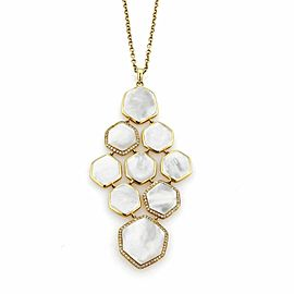 Ippolita Rock Candy Diamond & Mother of Pearl 18k Gold Cascade Pendant Necklace