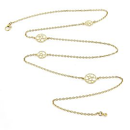 Roberto Coin Enamel 18k Gold Small Bollicine 4 Station Long Chain Necklace