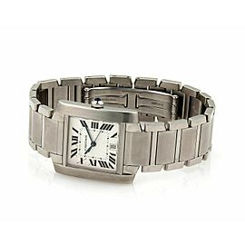 Cartier Tank Francaise 2302 28mm Automatic Stainless Steel Watch