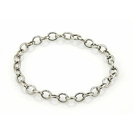 "Tiffany & Co. 950 Platinum Oval Clasping Link Bracelet -7.5"" Long"