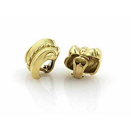 Kieselstein Cord 18k Yellow Gold Scroll Shell Design Clip On Earrings