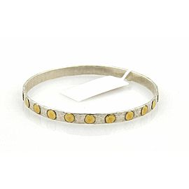 Gurhan Midnight 24k Gold & Sterling 5mm Bangle Fits 8.5""