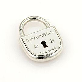 Tiffany & Co. Arc Pad Lock Sterling Silver Charm Pendant