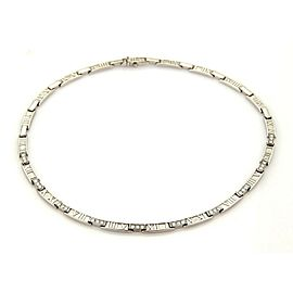 Tiffany & Co. Atlas 1.80ct Diamonds 18k White Gold Necklace