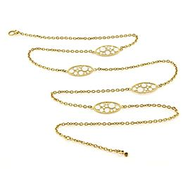 Roberto Coin Bollicine 3 Station Enamel & 18k Yellow Gold Long Chain Necklace
