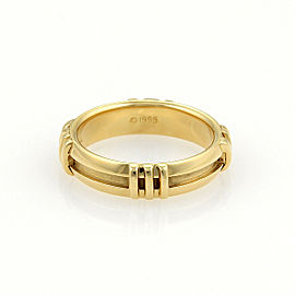 Tiffany & Co. Atlas Roman Numeral 18k Yellow Gold Band Ring Size 6