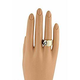 Gucci Metropolitan Enamel 18k Yellow Gold Limited Edition Band Ring Size 5.75