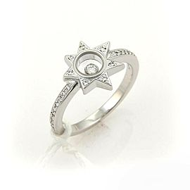 Chopard Happy Diamond Star Diamond Top 18k White Gold Ring