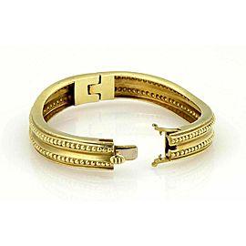 Vahe Naltchayan 18k Yellow Gold Beaded Wave Bangle Bracelet