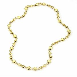 Tiffany & Co. 18k Yellow Gold Hearts & Ribbon Bow Necklace Chain