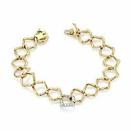 Tiffany & Co. Picasso Diamond Open Link 18k Gold Bracelet