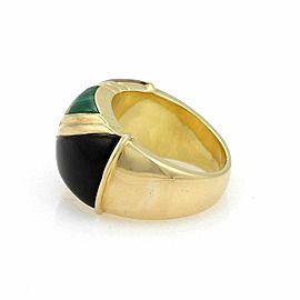 Asch Grossbardt Diamond Multicolor Inlaid Gemstone 18k Yellow Gold Ring