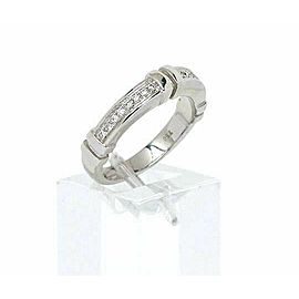 Di Modolo 18k White Gold & Diamonds 4mm Wide Band Ring Size 6.75