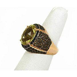 Elini Rose Gold Multi-Color Gems Large Cocktail Ring