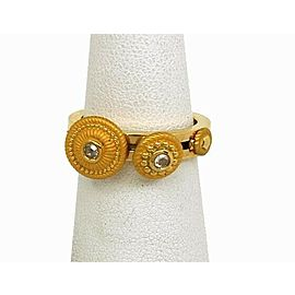 Carrera y Carrera Diamond 18k Yellow Gold Textured Slide Disc Ring