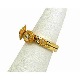 Carrera y Carrera Diamond 18k Yellow Gold Textured Slide Disc Ring