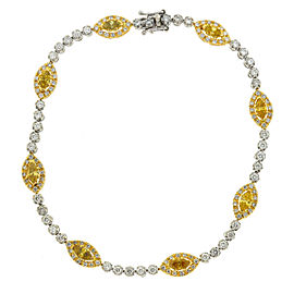 Gregg Ruth 14k White and Yellow Gold Diamond Bracelet