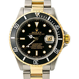 Rolex Submariner 16613 Men's Automatic Watch Two Tone 18K Yellow Gold 40MM