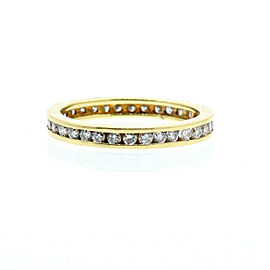 14K YELLOW GOLD 1.1ct DIAMOND ETERNITY BAND LADIES RING SIZE 6.75