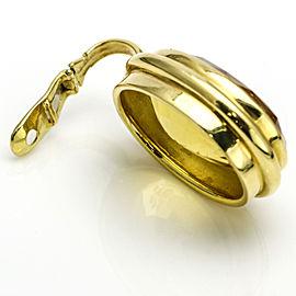 Citrine Family Crest Intaglio Statement Pendant in 18k Yellow Gold