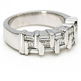 House of Baguettes 18k White Gold Diamond Band Ring