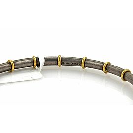 Gurhan Midnight 24k Gold & Dark Sterling Silver Bangle