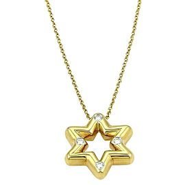 Tiffany & Co. Etoile Star Of David Diamond Platinum 18k Pendant