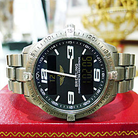 Breitling E75362 Aerospace SuperQuartz Titanium Chronometre Black Dial Watch