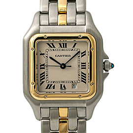 Cartier Panthere 1100 W25028B5 Unisex Quartz Watch 18k Two Tone SS 27mm