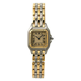 Cartier Panthere Triple Row 166921 Womens Quartz Watch 18k Two Tone 22mm