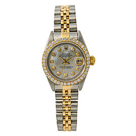 Rolex Datejust 69173 Womens Automatic Watch 1.2CT 18kt Two Tone 26mm