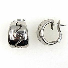 Van Cleef & Arpels Wave 18 Karat White Gold Hoop Earrings