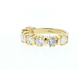 14K YELLOW GOLD 1.4CT DIAMOND LADIES RING SIZE 4.75