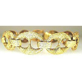Fine Estate 14k Yellow gold Horsebit Style Ladies Link Bracelet 32.4 Grams
