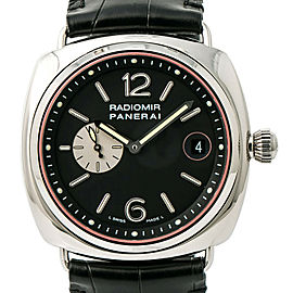 Panerai Radiomir PAM00141 Rare Mens Automatic Watch Black Dial Stainless 43mm