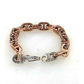 John Hardy Sterling Silver Bronze Gents Link Bracelet