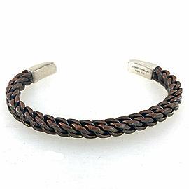 David Yurman Gents Sterling Silver Bronze Square Cuff Bracelet