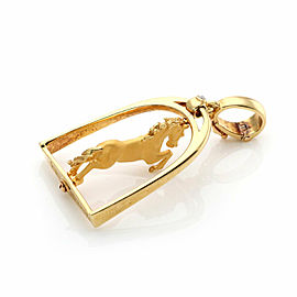 Carrera y Carrera Diamond 18k Yellow Gold Spinner Horse Pendant