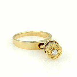 Bulgari B.zero1 Diamond 18k Yellow Gold Drop Charm Band Ring