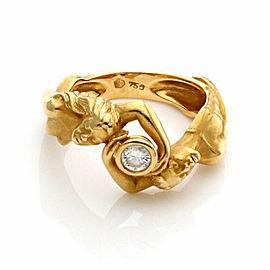 Carrera y Carrera Diamond 18k Yellow Gold Man & Woman Band Ring Size 6.5