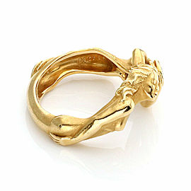 Carrera y Carrera Diamond 18k Yellow Gold Man & Woman Band Ring