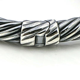 David Yurman Renaissance 10mm Cable Bracelet in Darkened Sterling Silver
