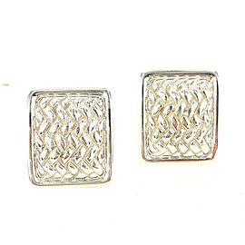 Kieselstein-Cord Woven Sterling Silver Clip Earrings