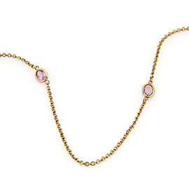 """Estate Amethyst by The Yard 14k Yellow Gold Long Chain Necklace 47"""""""